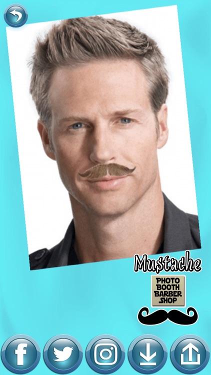 Mustache Photo Booth Barber Shop - Men Hair Salon screenshot-4