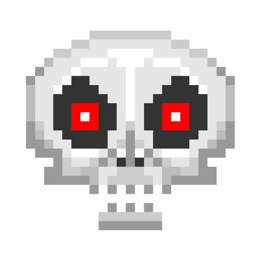 Pixel Skull Stickers For iMessage