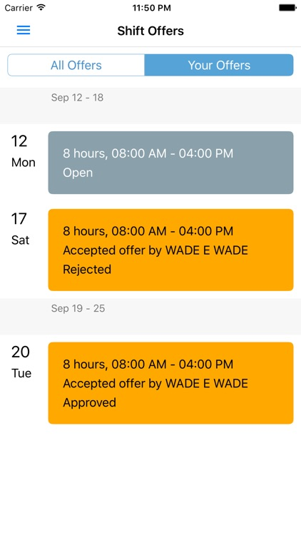 Employee Schedules by SICOM