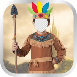 Red Indians Costumes Photo Montage