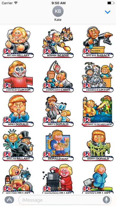 Garbage Pail Kids GPK Election Stickers Screenshot