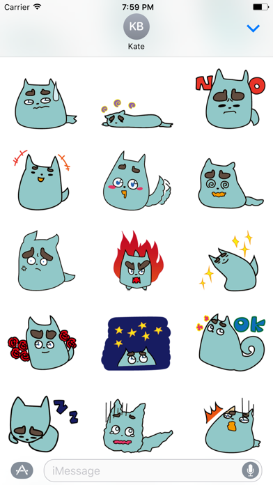 Lovely Puppet Stickers for iMessage screenshot one