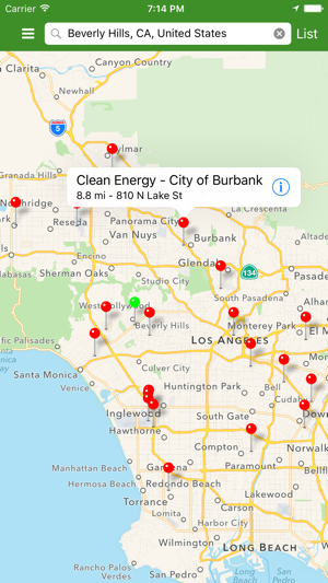 Cng Stations Utah Map.Alternative Fueling Station Locator On The App Store