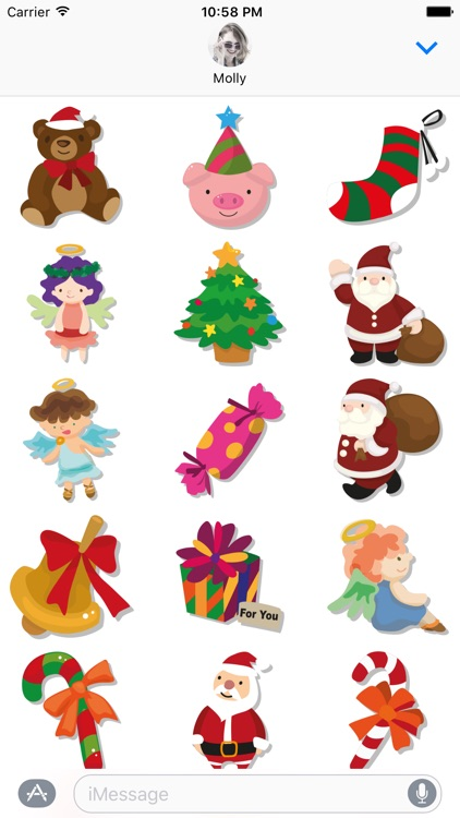 Merry Christmas – Santa Stickers for iMessage screenshot-2