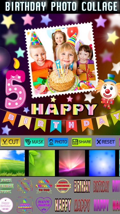 Happy Birthday Frame + Collage screenshot-3