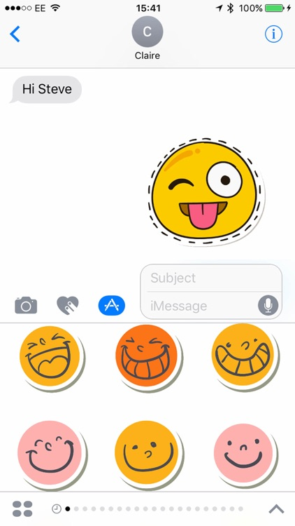 Smiler Stickers for iMessage screenshot-3