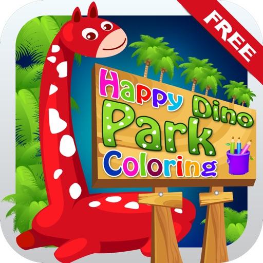 Happy Dino Park Coloring