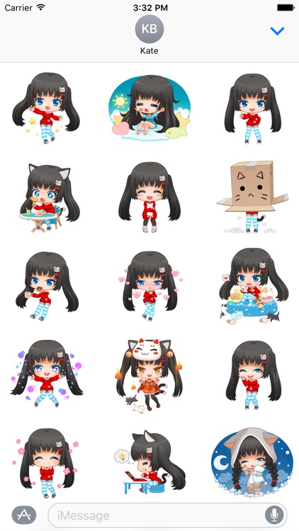 Nyao Nyanko Stickers