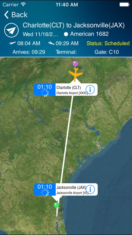 Jacksonville Airport Pro (JAX) + Flight Tracker HD