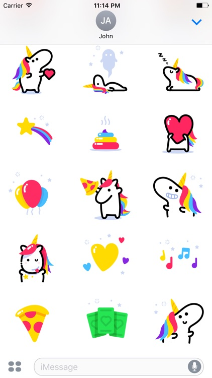 Lily Unicorn Stickers