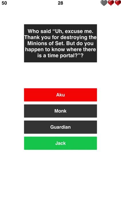 Trivia for Samurai Jack - Animated TV Series Quiz screenshot-3