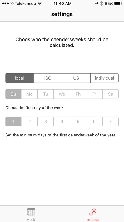 Calendar weeks complications for your watch