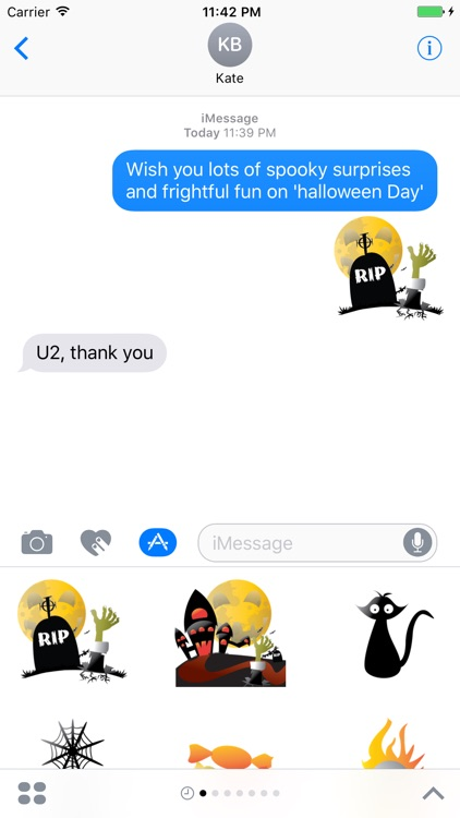 Crazy Halloween Sticker for iMessage #3