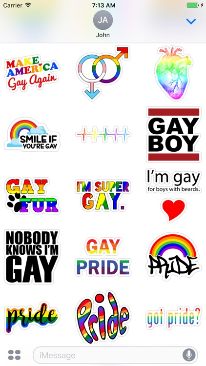 Gay - Stickers for iMessage screenshot-4