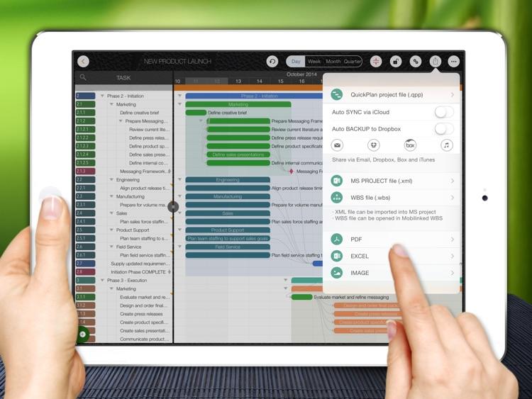 QuickPlan - Project Management, Plan, Gantt Chart screenshot-4