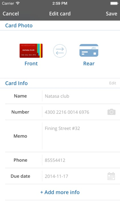 Card Mate - credit wallet screenshot-3