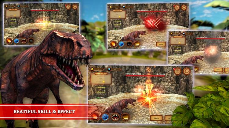 Dinosaur Fighting Game   T-Rex Adventure Simulator