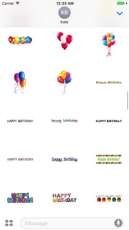 Birthday Gift Maker - Sticker screenshot-4