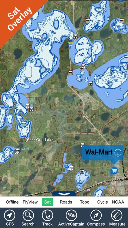 Guntersville lake map GPS fishing charts offline screenshot-0