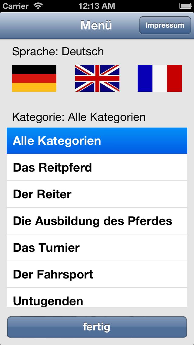 Wörterbuch Pferdesport deutsch-englisch-französ für PC
