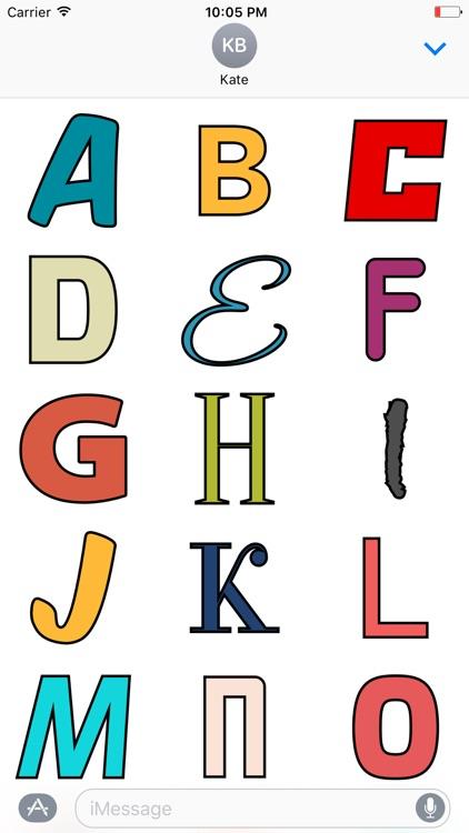 Random Alphabet Stickers
