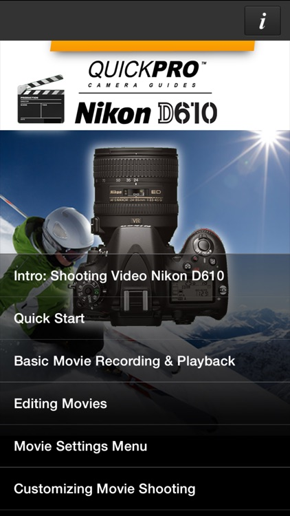 Nikon D610 Shooting Video from QuickPro