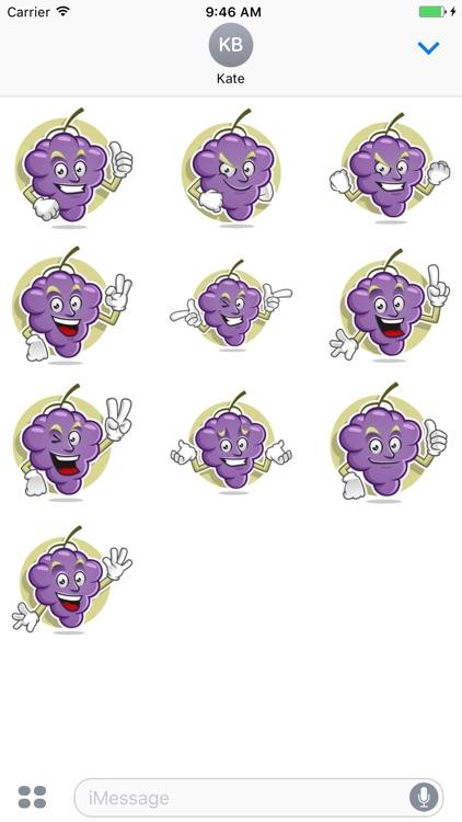 Funny Grape Stickers Vol 01