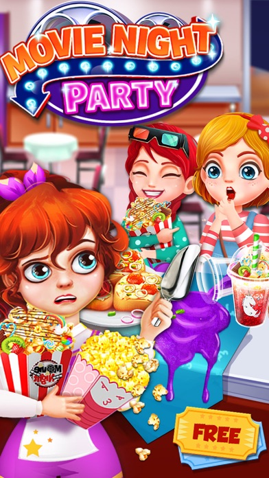 Movie Night Party! Food Games Screenshot on iOS