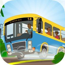 Crazy Town School Bus Racing Pro