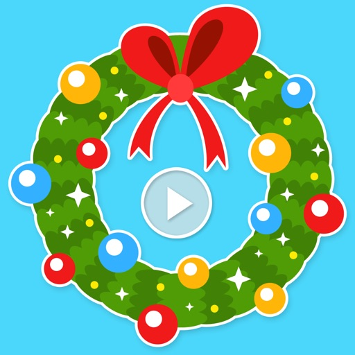 Blinking Christmas Wreaths Animated Stickers