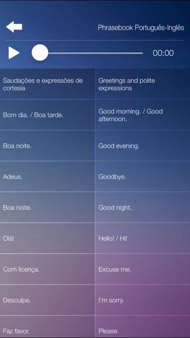 Aprender Inglês Áudio Curso Vocabulário Gramática screenshot three