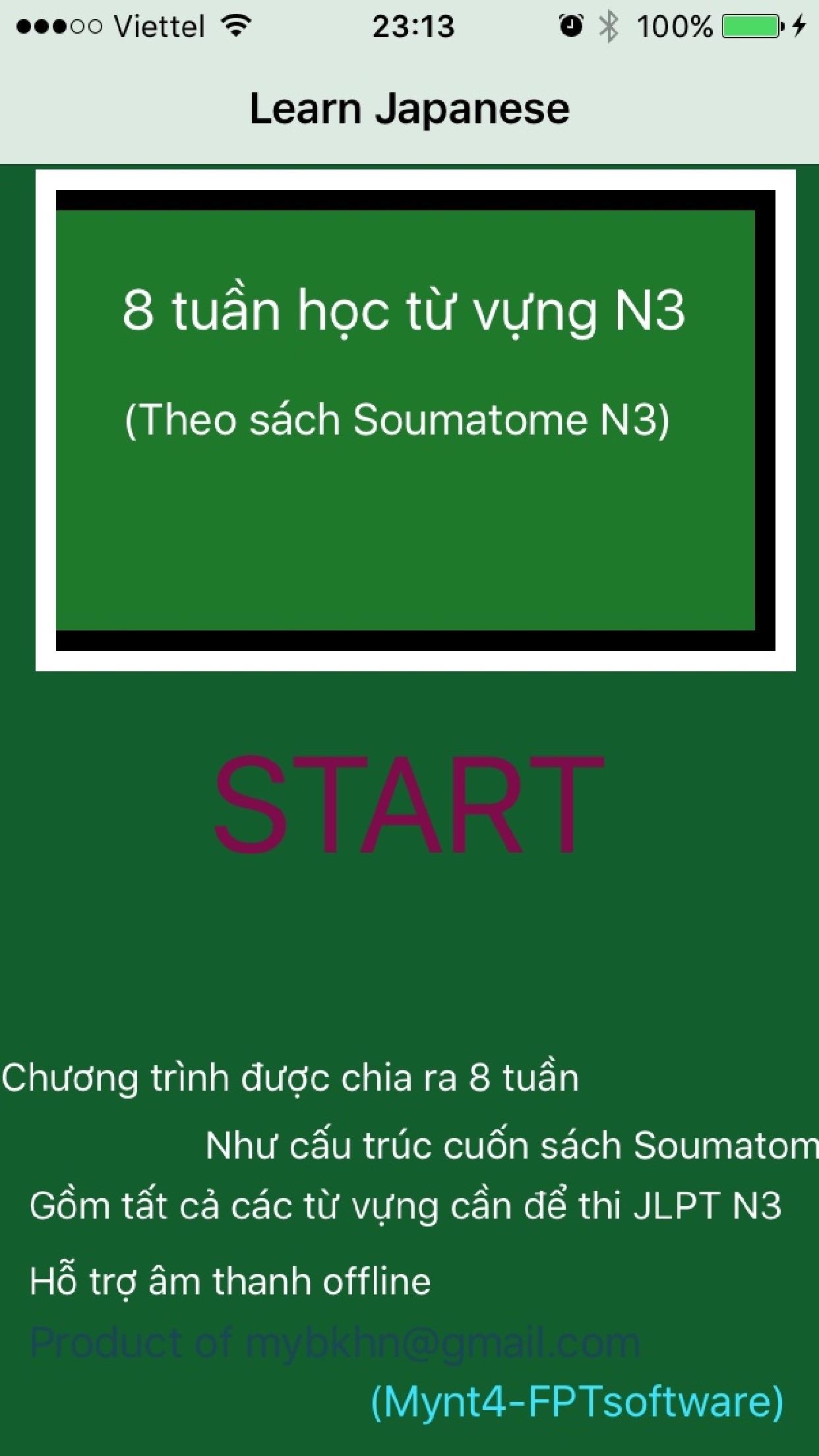 Hoc tu vung Soumatome N3 trong 8 tuan Screenshot