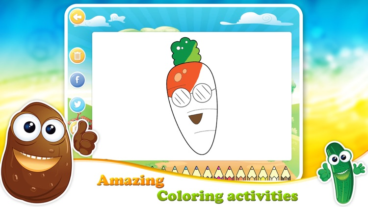Veggies & Fruits: kids educational games - English screenshot-3