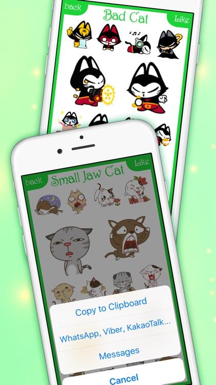 CatsMoji - Animated Cats for iMessage & WhatsApp screenshot-4