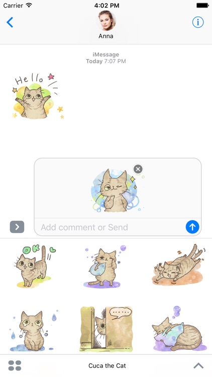 Cuca the Cat - Happy Kitty Stickers and Gif