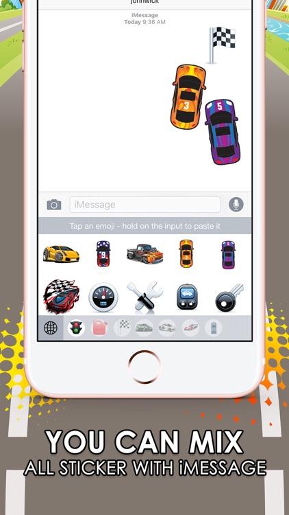 Super Car Emoji Stickers Keyboard Themes ChatStick