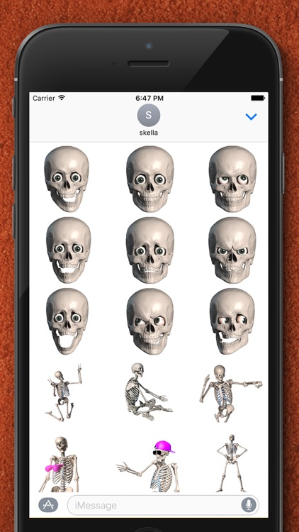 Skelly Stickers: Skulls and Skeletons