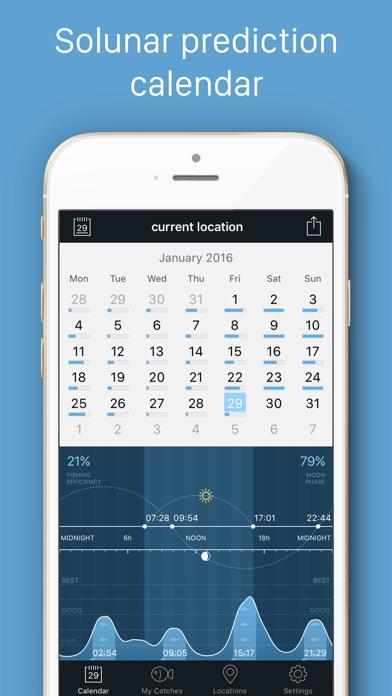 Fishing Calendar Screenshot 1