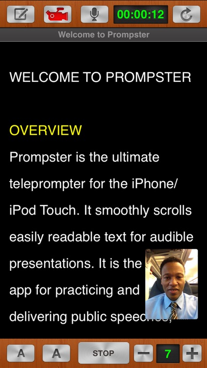 Prompster Pro™ - Teleprompter screenshot-0