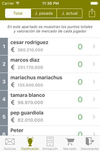 Comunio Manager screenshot 3