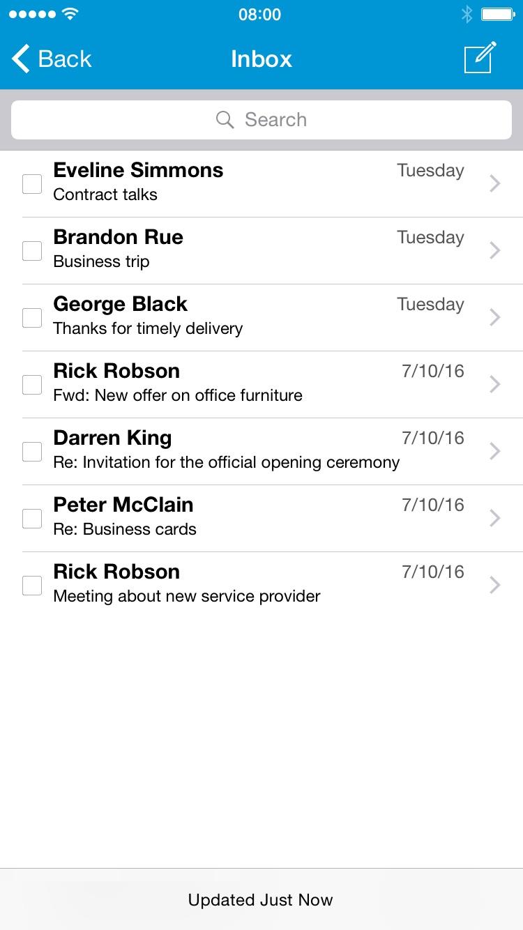 Cisco Business Class Email Screenshot