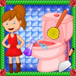 Bathroom Cleaning Girl - Cleanup & Washing Game