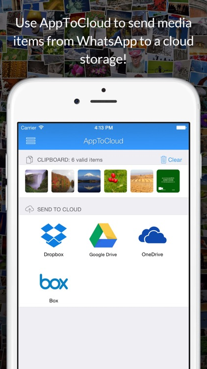 AppToCloud - Copy photo & video to cloud storage