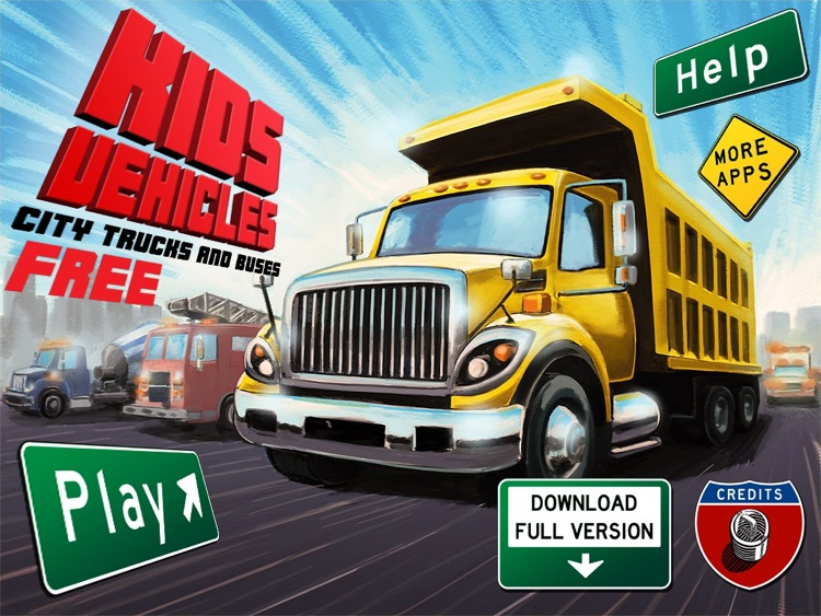 Kids Vehicles: City Trucks & Buses HD Lite screenshot-4