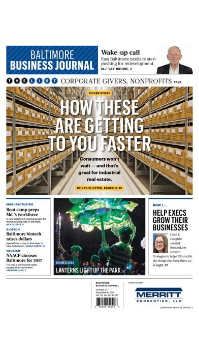 Baltimore Business Journal review screenshots