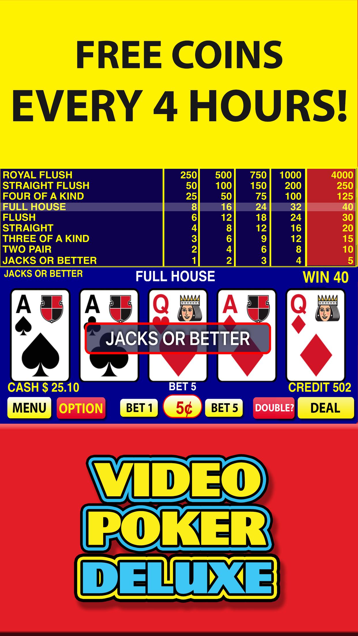 Video Poker Deluxe Casino Screenshot