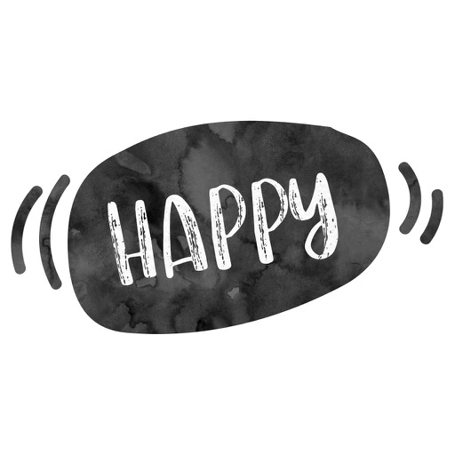 Happy Thoughts and Encouraging Words B&W