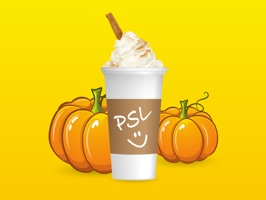 iMessage stickers Pumpkin Spice Latte style