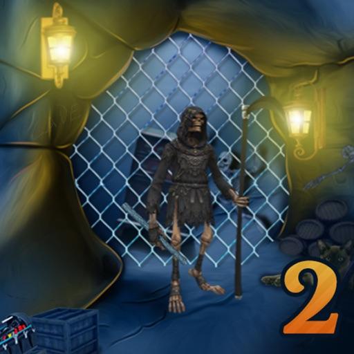 Blue Treasury Cave Escape 2