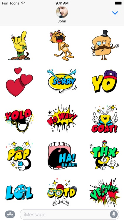 Fun Toons stickers: Mega fun for your daily chats! screenshot-3